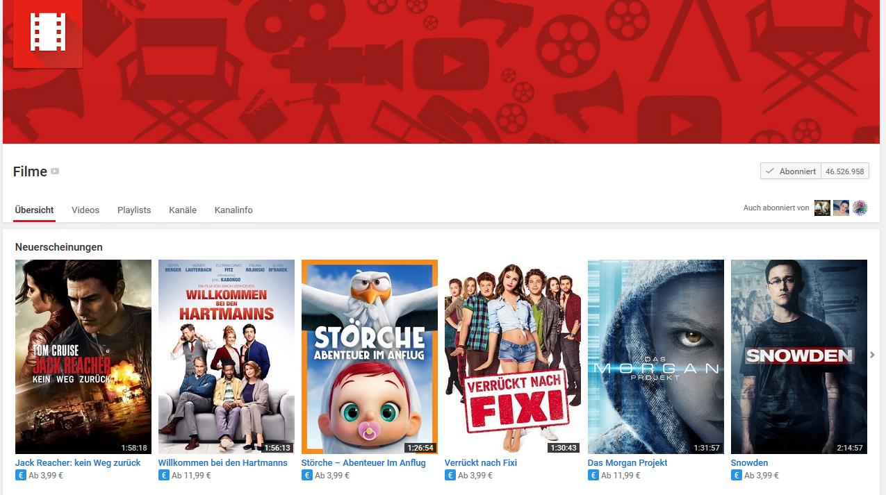 Gecheckt: Auf YouTube Filme kaufen und ausleihen! - Tubesights
