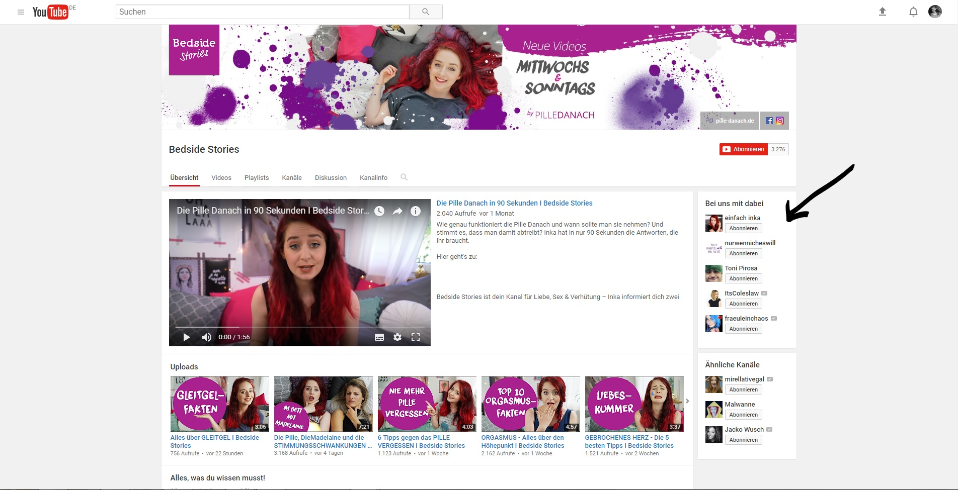 Das alte YouTube Kanal Design